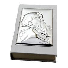 Santo vangelo da borsa cm 9x6 similpelle bianco con madonna con bimbo laminato