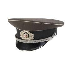 Original East German NVA army visor cap Air forces military peaked hat grey NEW