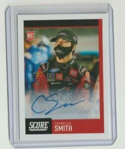 CHANDLER SMITH 2021 CHRONICLES RACING ROOKIE SCORE AUTO CARD