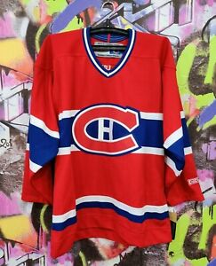 Montreal Canadiens CCM NHL Vintage 90s Ice Hockey Jersey Shirt Robo Mens Size S