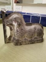"""Vintage Sheep Chocolate Mold 8""""-6"""" Lamb Lying Down Easter Metal Candy Making"""