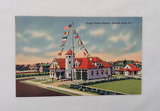 Seaside Park NJ New Jersey Antique Postcard 1944 Coast Guard Station USCG