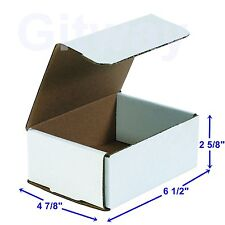 6 12 X 4 78 X 2 58 Small White Cardboard Packaging Mailing Shipping 50 Boxes