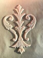 French Provincial Style Decorative Crest Applique Molding Shabby Chic