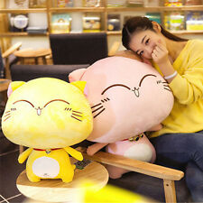 Giant Stuffed Plush Cat Animals Toys Big Soft Cats with Bells Doll 70cm 28inch