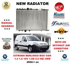 Pour Citroen Berlingo Box 1.4 1.6 16 V 1.9 D 4x4 2.0 HDI 90 4x4 2002 - > Radiateur