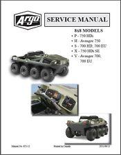 Argo 8x8 HDi HD Avenger Amphibious ATV Service Manual CD - 700 750 P H X S V