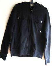 Mens Warm FIRETRAP Coat Jacket - MED -  Black Hooded Zipped - VGC - Fleece Lined