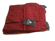 12 X Wine Red Egyptian Cotton Face Towels By Night Zone .               a