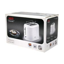 AEG AT1350 Toaster Doppelschlitz weiß Brötchenaufsatz 800W