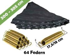 Trampolin Sprungmatte 305 für 64 V-Ringen und federn lange 18 cm   Sprungtuch