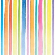 """BRIGHT STRIPES RED BLUE WHITE 3-PLY 20 PAPER NAPKINS SERVIETTES 13""""x13""""–33X33CM"""