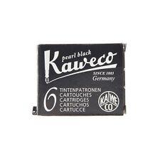Genuine Kaweco Pearl Black Ink Cartridges Pack of 6 Made in Austria