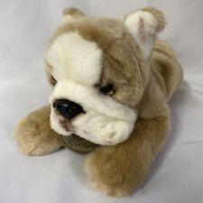 "Yomiko Classics Tan White Bulldog Puppy 9"" Plush Stuffed Animal Bull Dog"