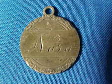 "Orig 19thc Love Token "" Nora "" Made From Us Seated Liberty Silver Dime"