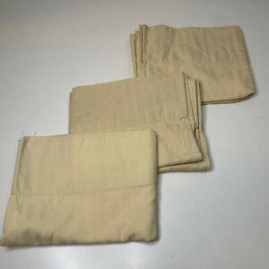 pillowcase set 3 beige striped 100% Egyptian cotton standard size machine