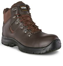 Boots Safety Work Mens Steel Toe Cap Hiker Ankle Leather High Quality -Returns