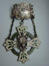 II. Ritter Schützenabzeichen Schützenmedaille um 1910, Silber 800, Emaille