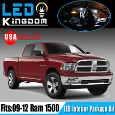 12 PCS Xenon White LED Lights Interior Package Deal for 2009-2012 Dodge Ram 1500
