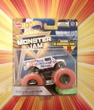 Hot Wheels Monster Jam Truck ICE CREAM MAN with Red Wheels recrushable car