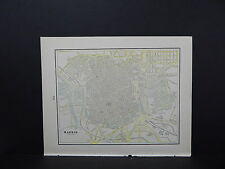 Map, City of Madrid, Spain Double Sided S2#01