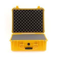 Peli Case 1550 mit Schaum gelb Fotokoffer Industriekoffer Outdoor Case IP67 NEU