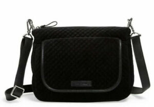 NWT Vera Bradley Carson Mini Shoulder Bag in Velvet Black R$98