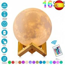 Lámpara de Luna 3D,16 Colores RGB Luz Nocturna Luna LED Lampara Luna Grande