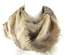 COLLECTION XIIX Infinity Scarf Cowl Tie Dye Metallic Sand   NWT $32