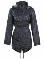 Womens Rain Mac Showerproof Raincoat Jacket Sizes 8 10 12 14 16 Grey Coat
