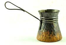 VTG Turkish Coffee Pot Cezve Ibrik Briki Hammered Copper Jezve