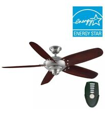Home Decorators Collection 26656 Altura 56 inch Brushed Nickel Ceiling Fan