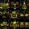 Merry Christmas Stickers Gold Poster DIY Home Xmas Party Wall Window Decor Decal
