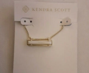 Kendra Scott Leanor Gold Pendant Necklace In White Mother of Pearl NWT
