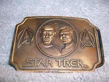 Star Trek Spock Captain Kirk Sci-Fi Movie Belt Buckle Paramount 1979 Vintage