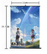 """Hot Japan Anime Your Name Poster Wall Scroll Home Decor 8""""×12"""" 03"""