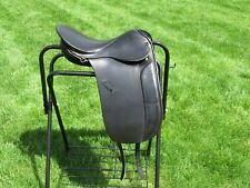 """Nwt German-Made Grand Meister """"DressageMeister 4; Black Dressage Saddle~17""""~31cm"""