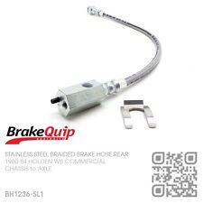 BRAIDED STAINLESS BRAKE HOSE REAR DIFF [HOLDEN WB UTE/PANEL VAN/ONE TONNER] SL