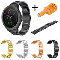 1* Stainless Steel Bracelet Watch Band Strap For Garmin vivoactive 3 Smart Watch
