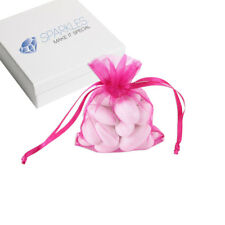"50 x 3""x4"" Fuchsia Organza Wedding Favor Bags Gift Pouches"