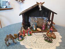 Vintage Nativity Marked Italy 14 pcs