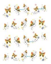 One Stroke Sticker, Blumen, Schmetterling,Tattoo, Aufkleber  Nr.1049