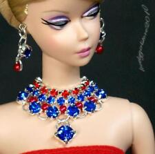 "Handmade doll jewelry necklace earrings fits 11.5"" dolls 894A"