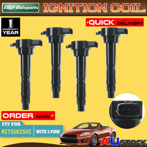 4x Ignition Coil for Mitsubishi Outlander Grandis 04-06  ZF BA I4 2.4L Lancer CH