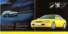 Proton Coupe Evolution 16v 1999-2000 UK Market Foldout Sales Brochure