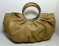 CHRISTIAN DIOR 'Babe' Beige / Camel Leather Handbag Hand Bag