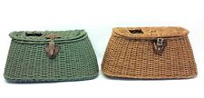 Vintage Used Fly Fishing Creels Wicker Baskets Containers Storage