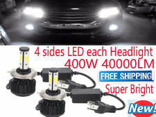 H4 H11 H7 9005 400W 40000LM CREE 4 sides LED Headlight Lamp Bulbs Kit High Power