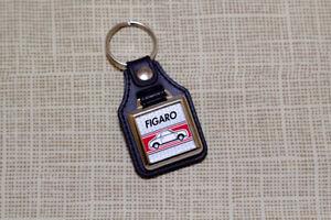 Nissan Figaro Keyring - Leatherette & Chrome Keyfob