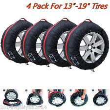 """4x Car Spare Wheel Tyre Protection Storage Bag Carry Tote Cover For 13""""-19"""" Tire"""
